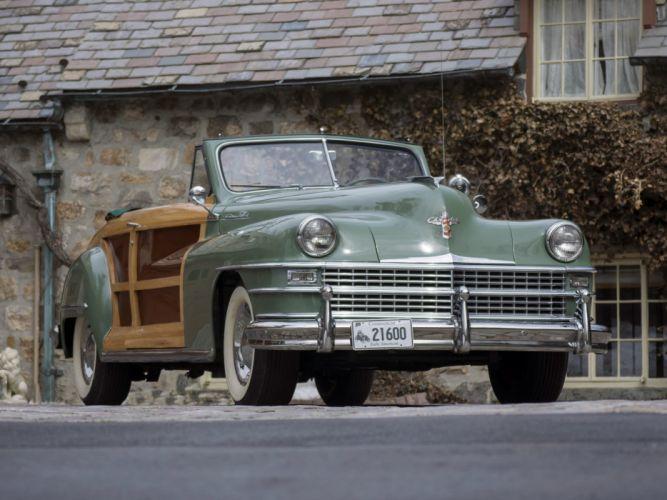 1948 Chrysler Town Country Convertible retro f wallpaper