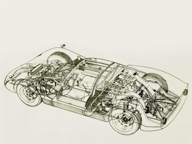 1966-68 Nissan R380-II r380 race racing rally supercar classic interior engine d wallpaper