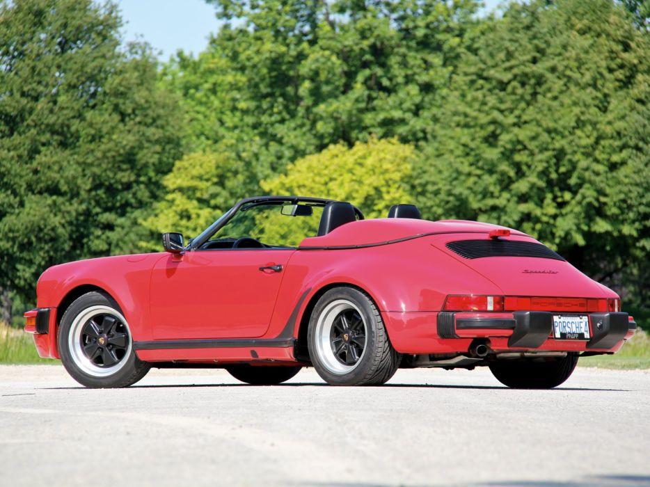 1989 Porsche 911 Carrera Speedster Turbolook US-spec supercar d wallpaper