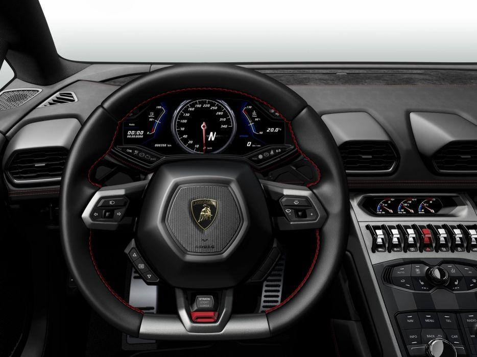 2014 Lamborghini Huracan LP 610 4 (LB724) Supercar Interior F Wallpaper