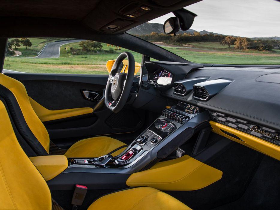 2014 Lamborghini Huracan LP610-4 US-spec (LB724) supercar interior     d wallpaper