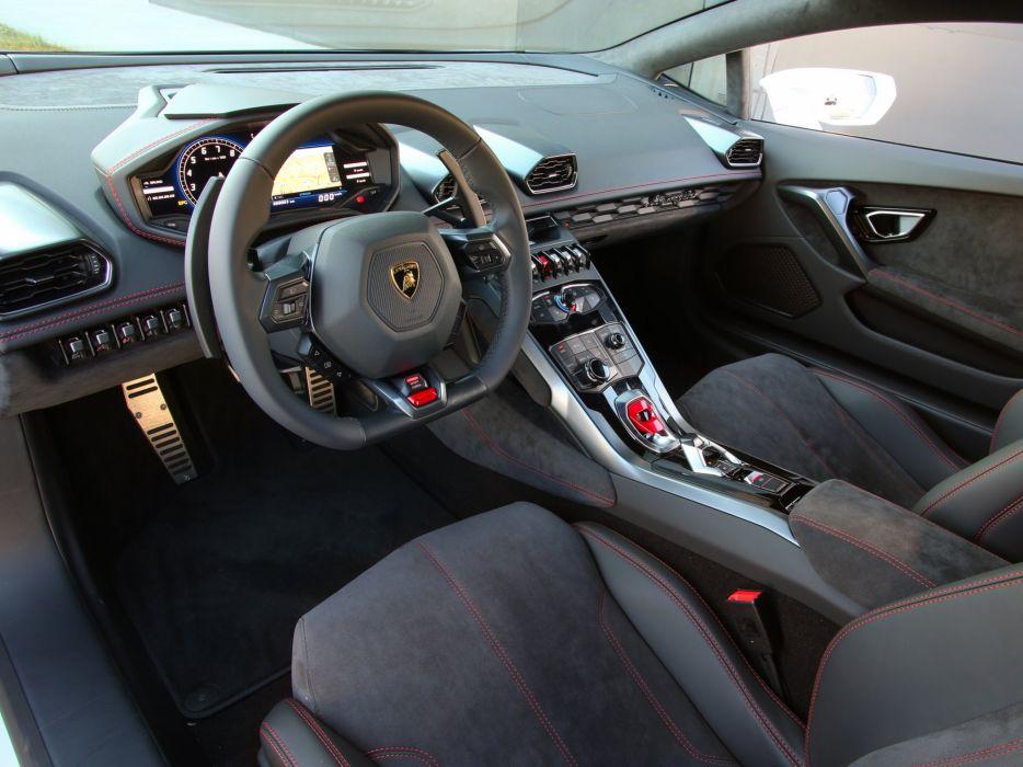 2014 Lamborghini Huracan LP 610-4 (LB724) supercar interior    f wallpaper