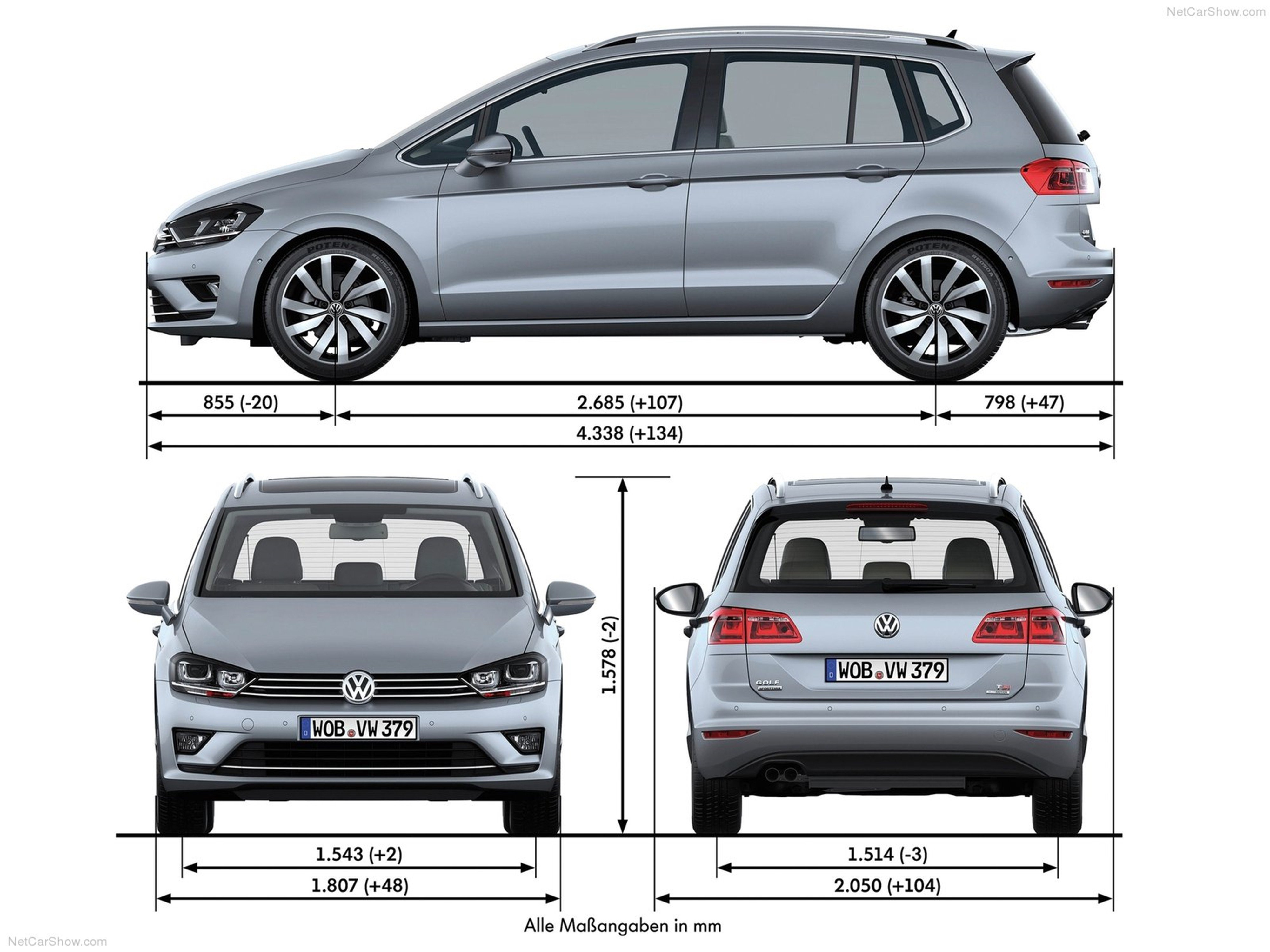 Volkswagen Golf Sportsvan 2014 Car Germany Wallpaper