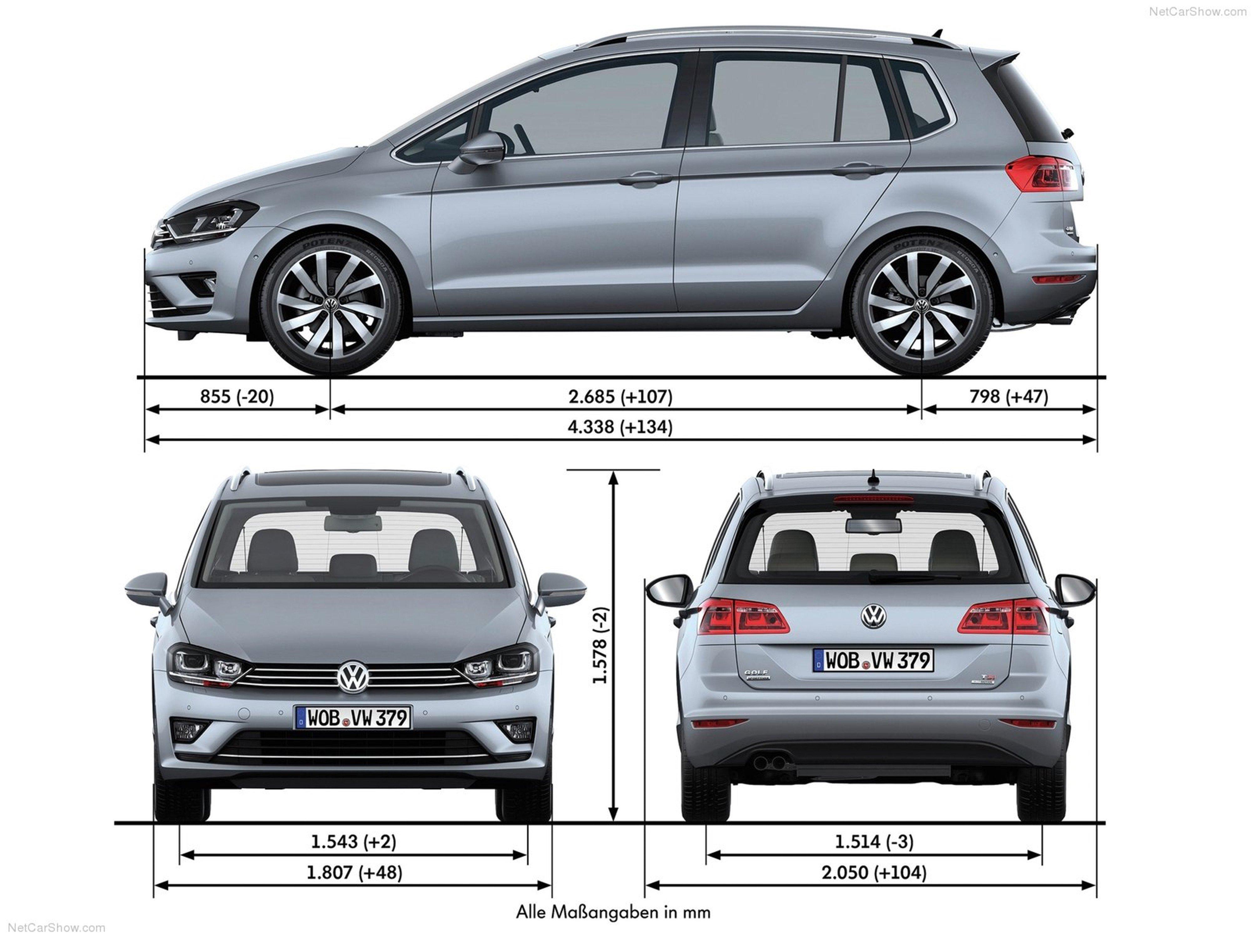 volkswagen golf sportsvan 2014 car germany wallpaper. Black Bedroom Furniture Sets. Home Design Ideas