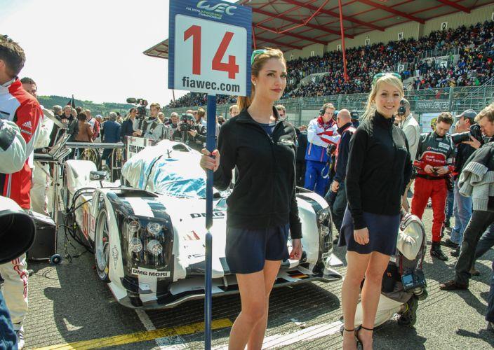 2014 WEC 6 Heures de SPA-Francorchamps Car Race Belgium Racing Porsche Team 2014 Porsche 919 Hybrid LMP1 Blondes Babes 4000x2841 wallpaper
