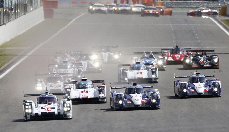 2014 WEC 6 Heures de SPA-Francorchamps Car Race Belgium Racing Start of the Race 4000x2307 wallpaper
