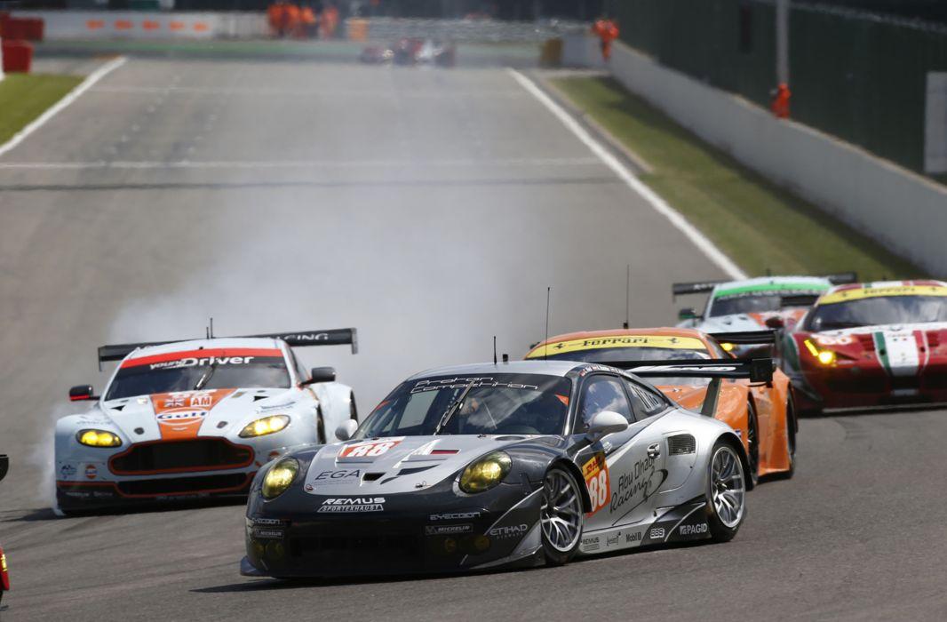 2014 WEC 6 Heures de SPA-Francorchamps Car Race Belgium Racing Proton Competition Porsche 911 RSR 4000x2628 wallpaper