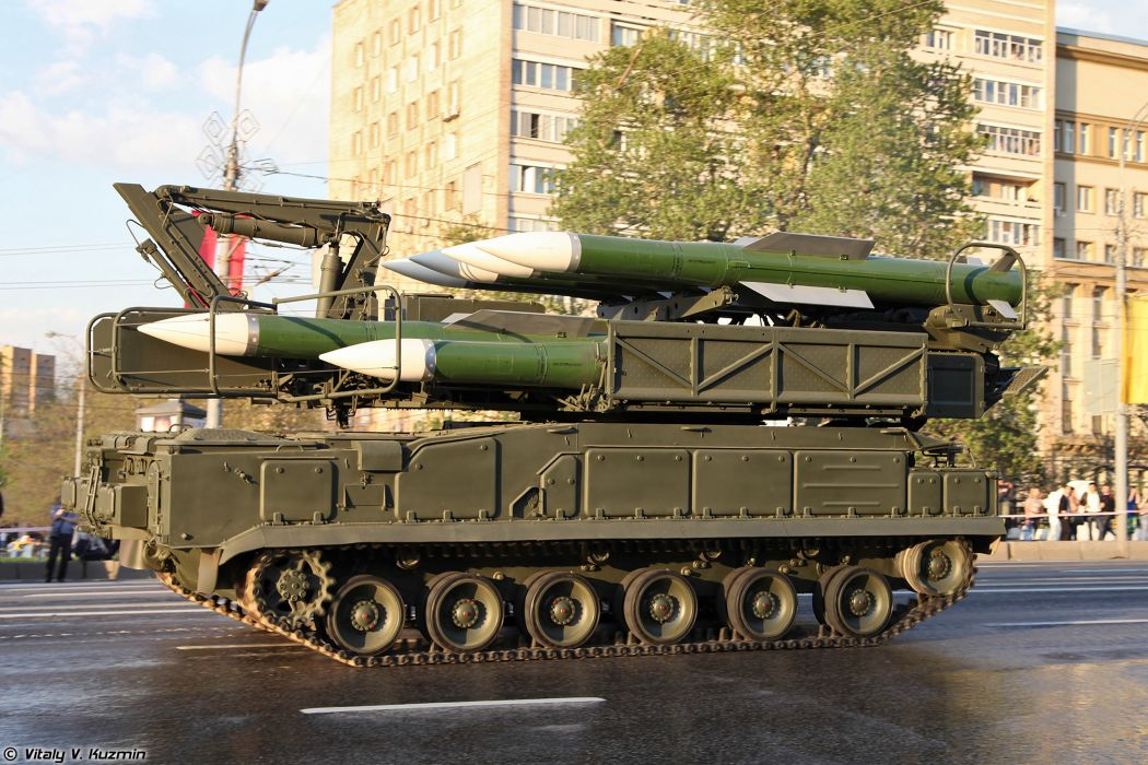 April-29th rehearsal of 2014 Victory Day Parade in Moscow Russia Red Star Russian Military Army 9A316 transporter erector launcher and transloader for Buk-M2 air defence system anti-aircraft missile 2 4000x2667 wallpaper