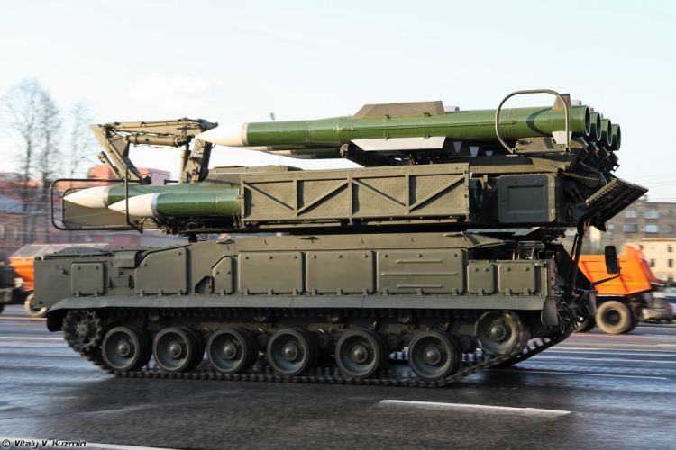 April-29th rehearsal of 2014 Victory Day Parade in Moscow Russia Red Star Russian Military Army 9A316 transporter erector launcher and transloader for Buk-M2 air defence system anti-aircraft missile 4000x2667 wallpaper