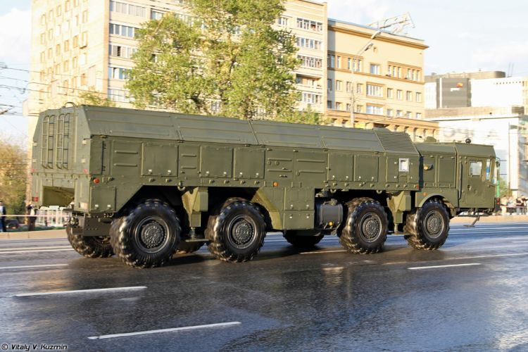April-29th rehearsal of 2014 Victory Day Parade in Moscow Russia Red Star Russian Military Army 9P78-1 TEL for Iskander-M system 2 4000x2667 wallpaper
