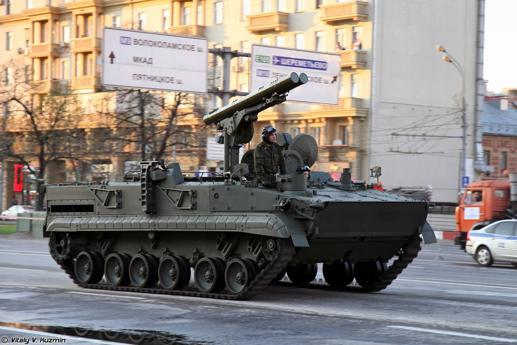 April-29th rehearsal of 2014 Victory Day Parade in Moscow Russia Red Star Russian Military Army 9P157-2 combat vehicle from 9K123 Khrizantema-S anti-tank missile system 4 4000x2667 wallpaper