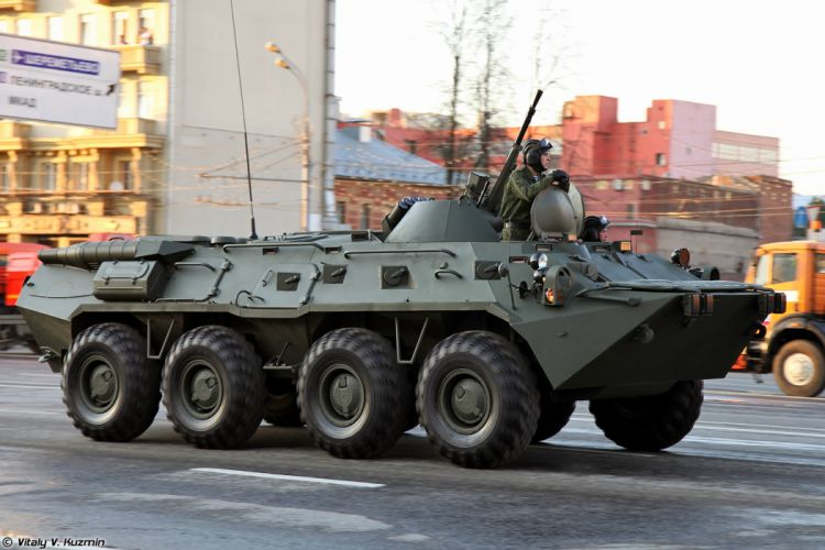 April-29th rehearsal of 2014 Victory Day Parade in Moscow Russia Red Star Russian Military Army BTR-80 APC Armored 4000x2667 wallpaper