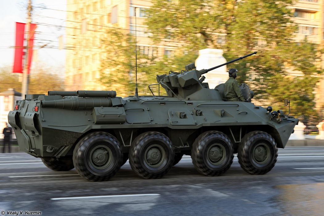 April-29th rehearsal of 2014 Victory Day Parade in Moscow Russia Red Star Russian Military Army BTR-82A APC Armored 4000x2667 wallpaper