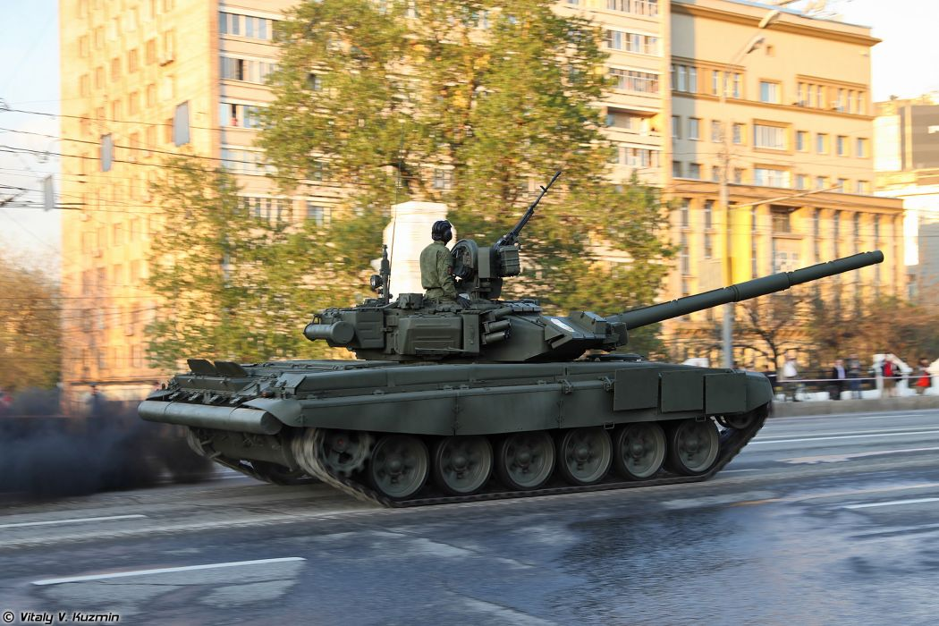April-29th rehearsal of 2014 Victory Day Parade in Moscow Russia Red Star Russian Military Army T-90A main battle tank 4000x2667 wallpaper