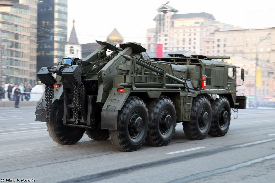 April-29th rehearsal of 2014 Victory Day Parade in Moscow Russia Red Star Russian Military Army Wheeled evacuation carrier KET-T Truck 2 4000x2667 wallpaper