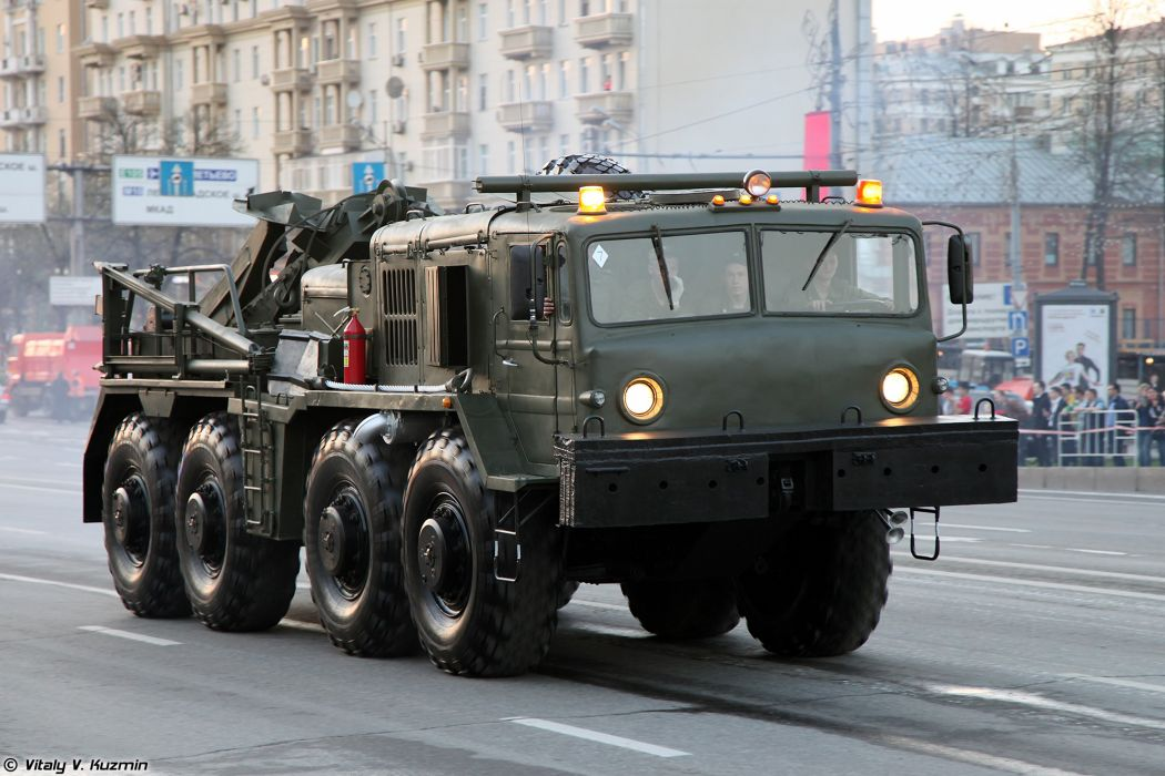 April-29th rehearsal of 2014 Victory Day Parade in Moscow Russia Red Star Russian Military Army Wheeled evacuation carrier KET-T Truck 4000x2667 wallpaper