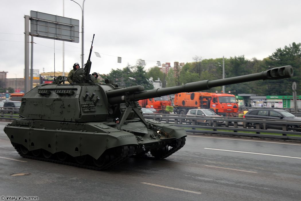 May-5th rehearsal of 2014 Victory Day Parade in Moscow Russia Red Star Russian Military Army 2 S19M2 Msta-S Howtizer 2 4000x2667 wallpaper