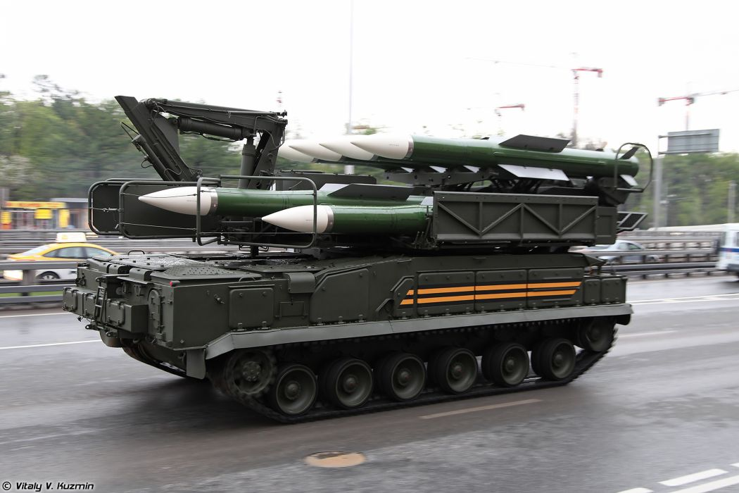 May-5th rehearsal of 2014 Victory Day Parade in Moscow Russia Red Star Russian Military Army 9A316 transporter erector launcher and transloader for Buk-M2 air defence system anti-aircraft missile 2 4000x2667 wallpaper