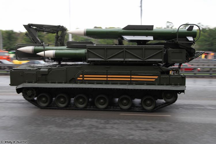 May-5th rehearsal of 2014 Victory Day Parade in Moscow Russia Red Star Russian Military Army 9A316 transporter erector launcher and transloader for Buk-M2 air defence system anti-aircraft missile 4000x2667 wallpaper