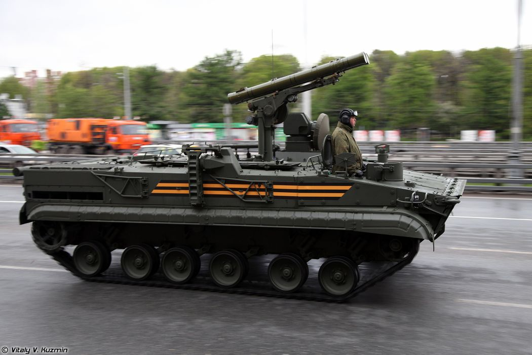 May-5th rehearsal of 2014 Victory Day Parade in Moscow Russia Red Star Russian Military Army 9P157-2 combat vehicle from 9K123 Khrizantema-S anti-tank missile system 2 4000x2667 wallpaper