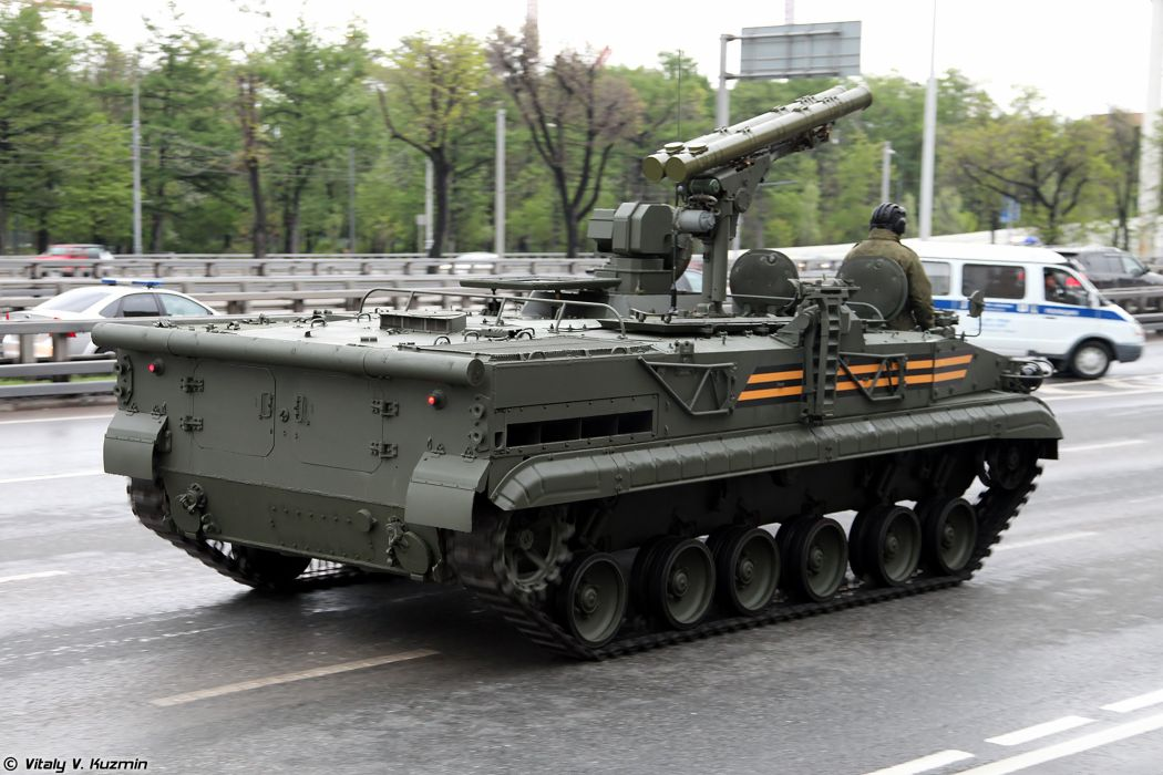 May-5th rehearsal of 2014 Victory Day Parade in Moscow Russia Red Star Russian Military Army 9P157-2 combat vehicle from 9K123 Khrizantema-S anti-tank missile system 4 4000x2667 wallpaper
