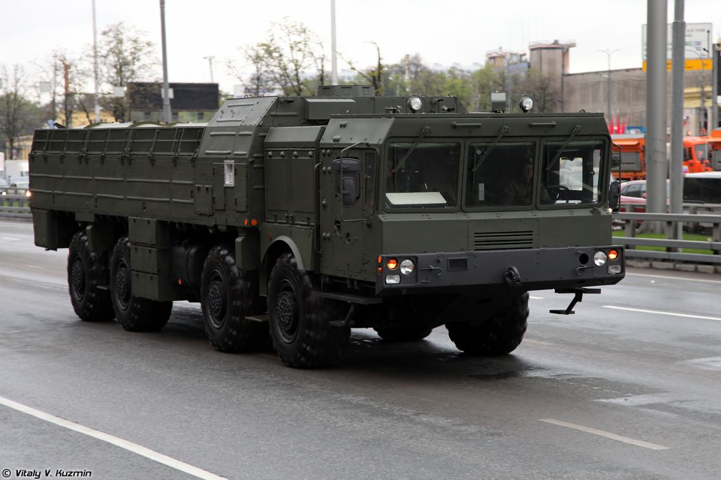 May-5th rehearsal of 2014 Victory Day Parade in Moscow Russia Red Star Russian Military Army 9T250 loading vehicle for Iskander-M system truck 4000x2667 wallpaper