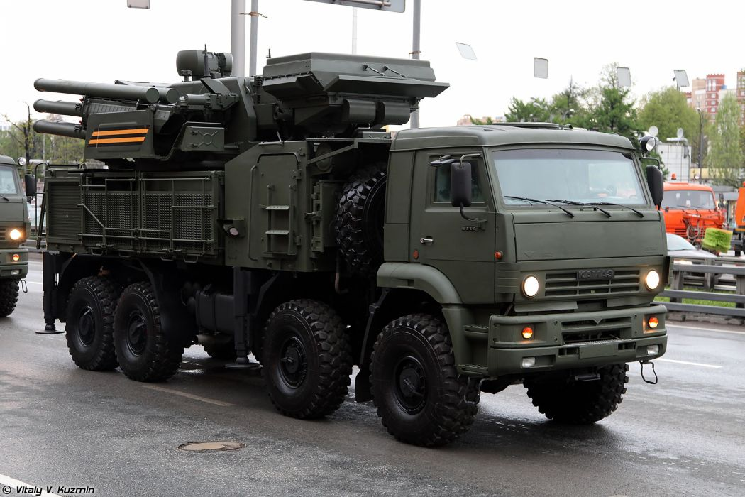 May-5th rehearsal of 2014 Victory Day Parade in Moscow Russia Red Star Russian Military Army 96K6 Pantsir-S1 TELAR anti-aircraft missile Kamaz truck 4000x2667 wallpaper