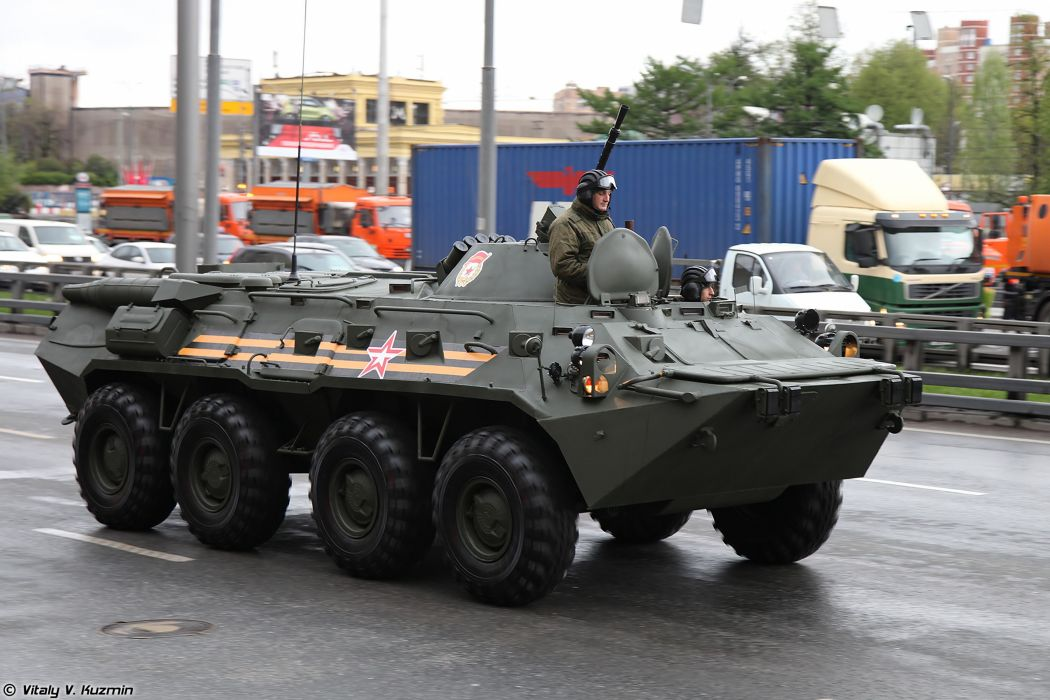 May-5th rehearsal of 2014 Victory Day Parade in Moscow Russia Red Star Russian Military Army BTR-80 APC Armored 4000x2667 wallpaper
