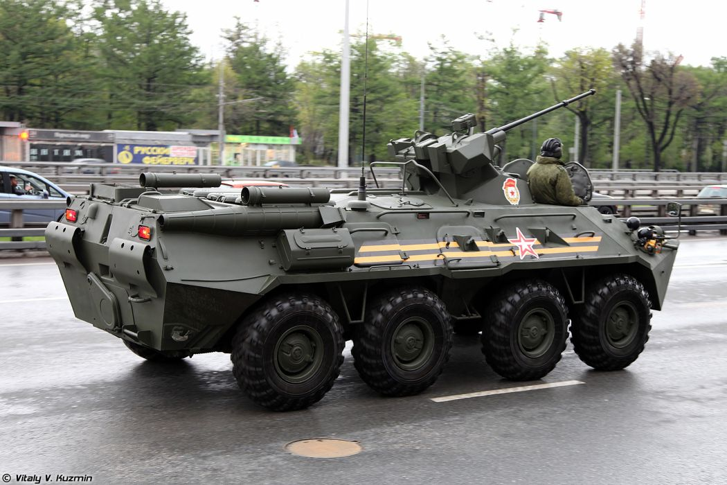 May-5th rehearsal of 2014 Victory Day Parade in Moscow Russia Red Star Russian Military Army BTR-82A APC Armored 4 4000x2667 wallpaper