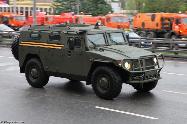 May-5th rehearsal of 2014 Victory Day Parade in Moscow Russia Red Star Russian Military Army GAZ-233014 Tigr Armored 4x4 4000x2667 wallpaper