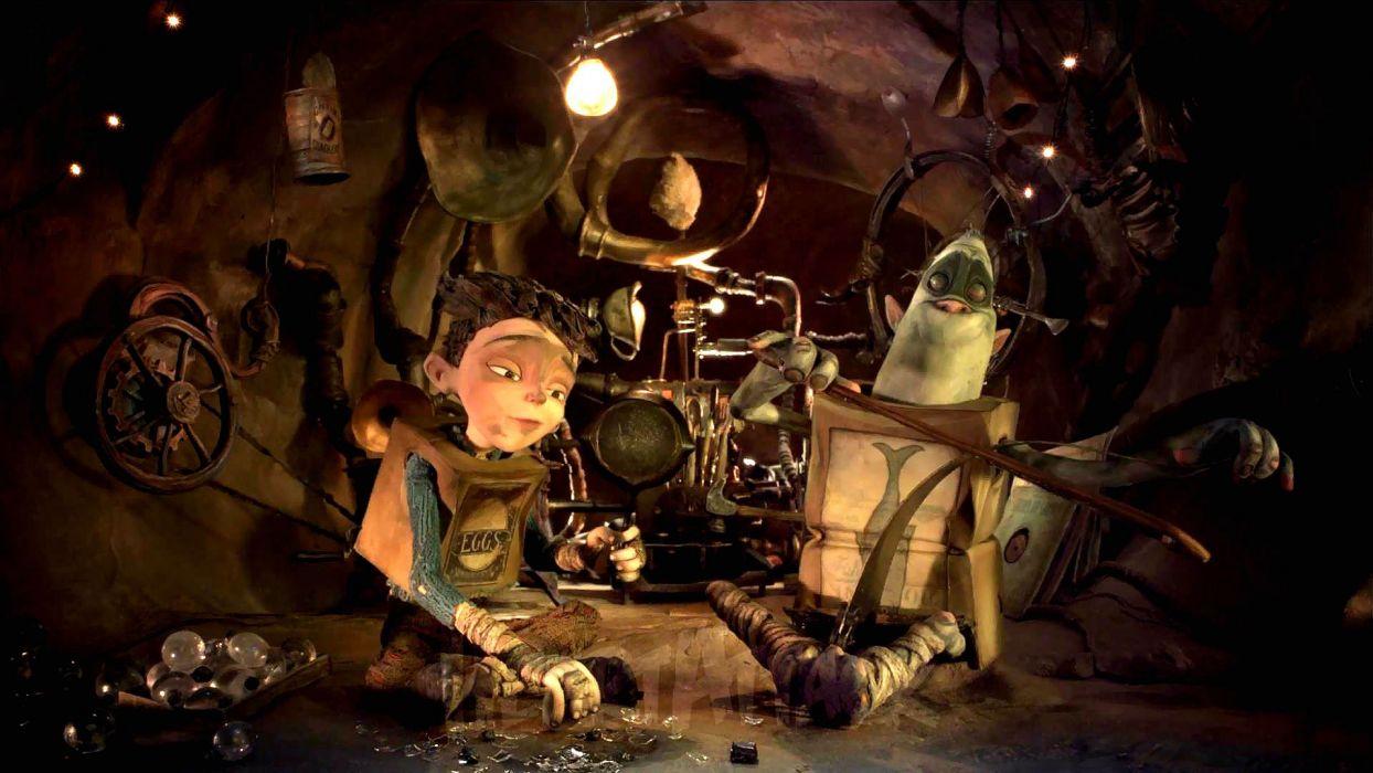 THE BOXTROLLS animation family comedy cartoon movie film adventure (38) wallpaper