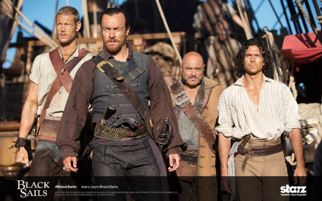 BLACK SAILS adventure drama fantasy series television pirates pirate starz (33) wallpaper