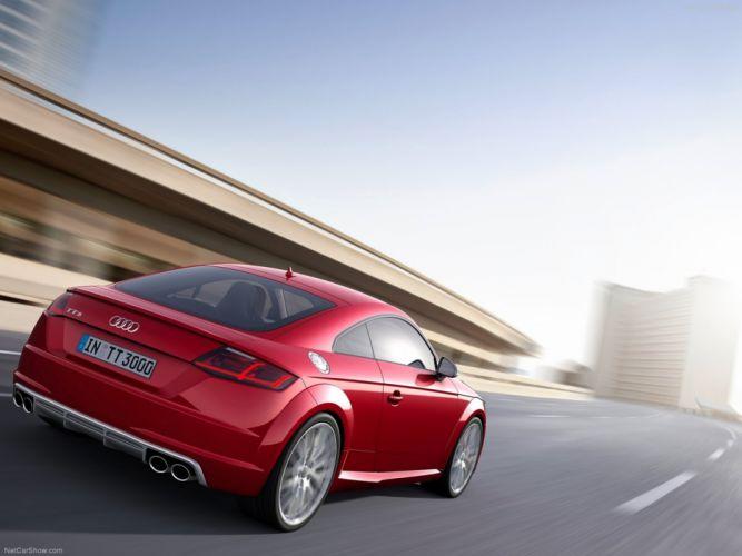 Audi TTS Coupe 2015 supercar sport car Germany sportcar wallpaper 4000x3000 red wallpaper