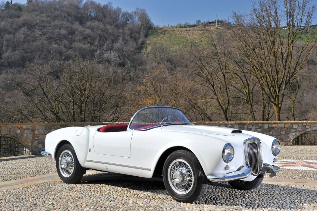 RM's Auction in Monaco classic car 1955 Lancia Aurelia B24S Spider America 4000x2661 wallpaper