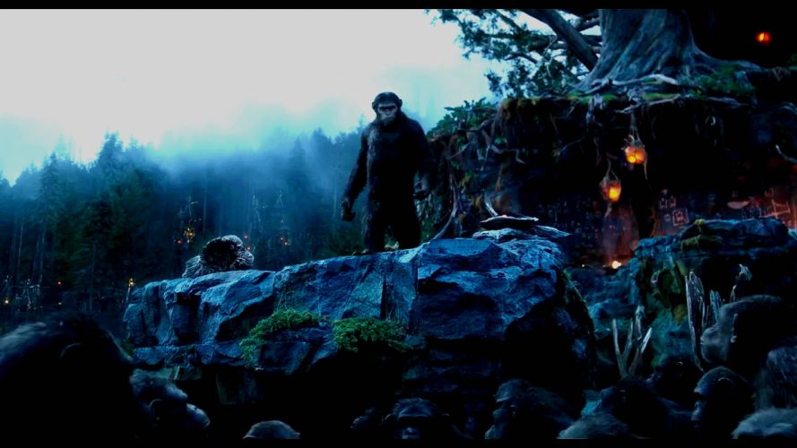 DAWN-OF-THE-APES action drama sci-Fi dawn planet apes monkey adventure (25) wallpaper