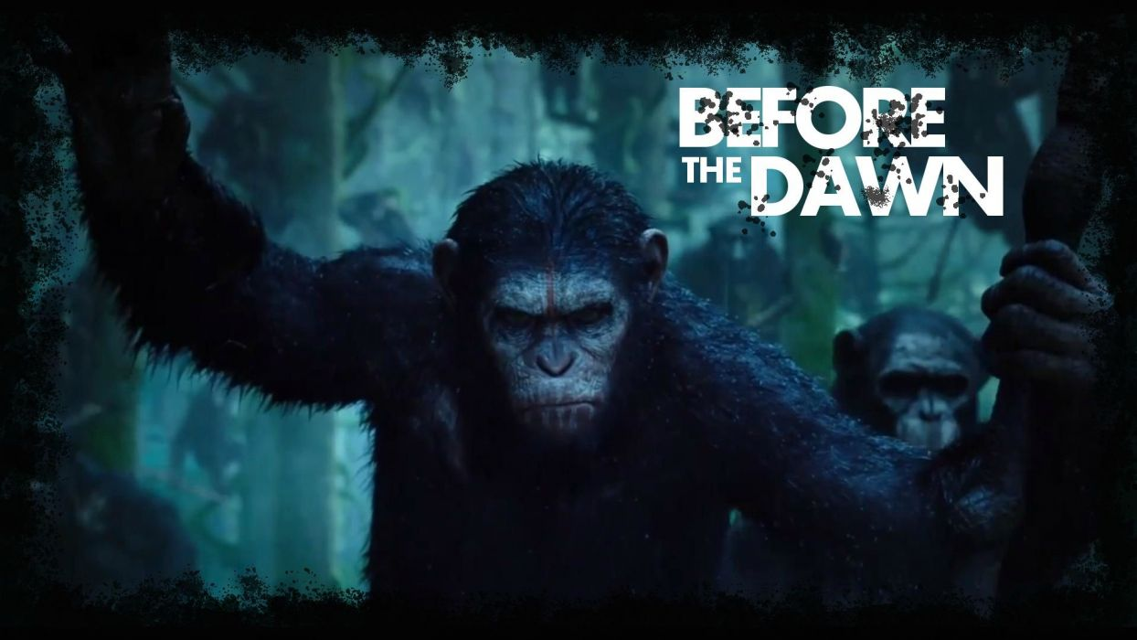 DAWN-OF-THE-APES action drama sci-Fi dawn planet apes monkey adventure (51) wallpaper
