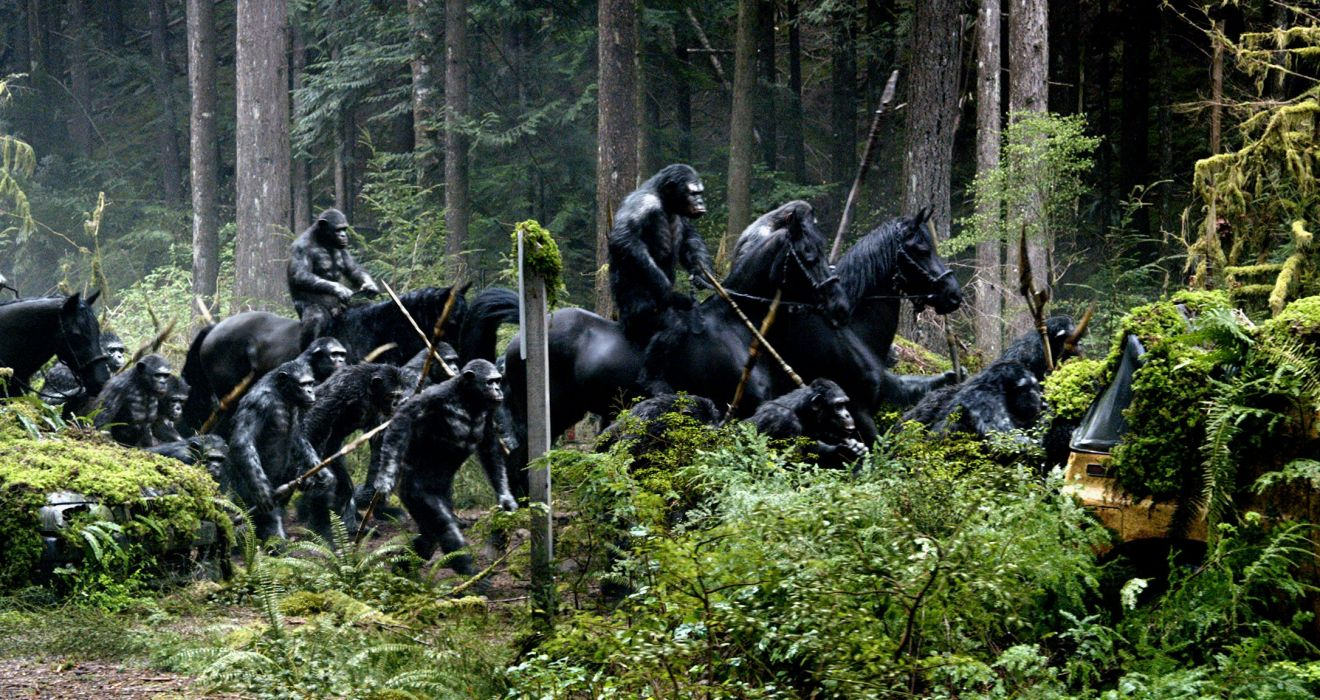 DAWN-OF-THE-APES action drama sci-Fi dawn planet apes monkey adventure (71) wallpaper