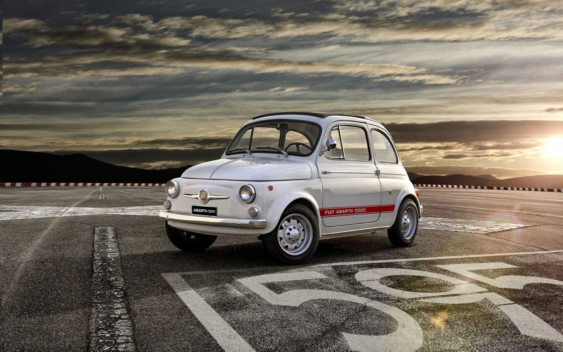 2014 Fiat 595 Abarth 50th-Anniversary car Italy 4000x2500 2 wallpaper
