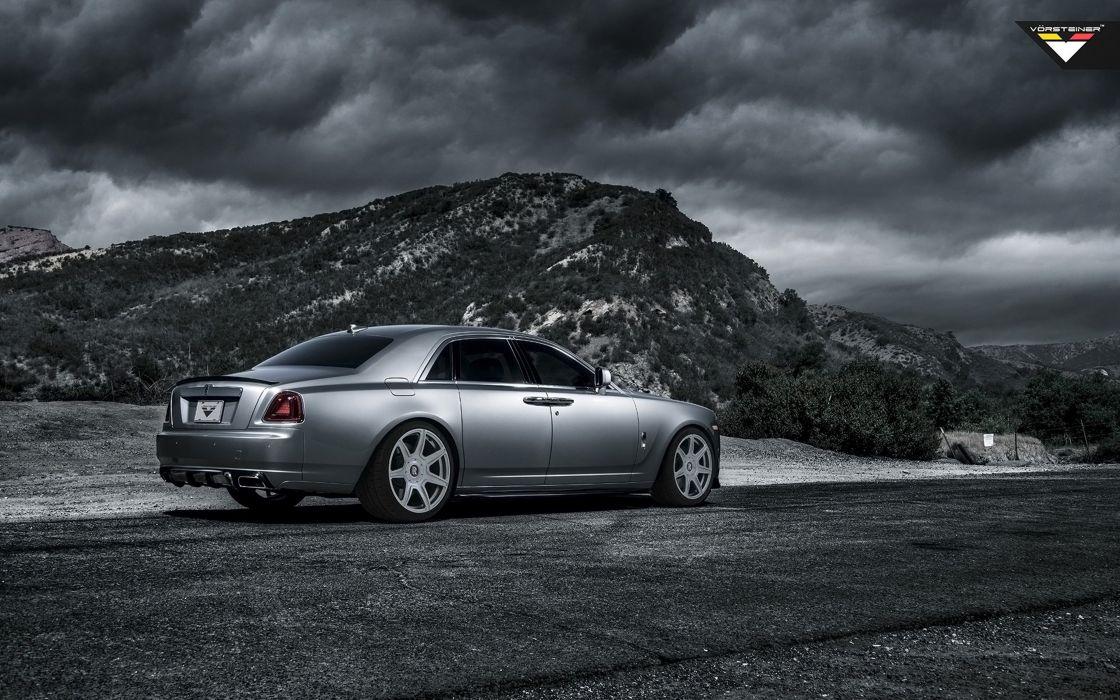 2014 Vorsteiner Rolls-Royce Ghost Supercar Car Tunning Silver 4000x2500 wallpaper