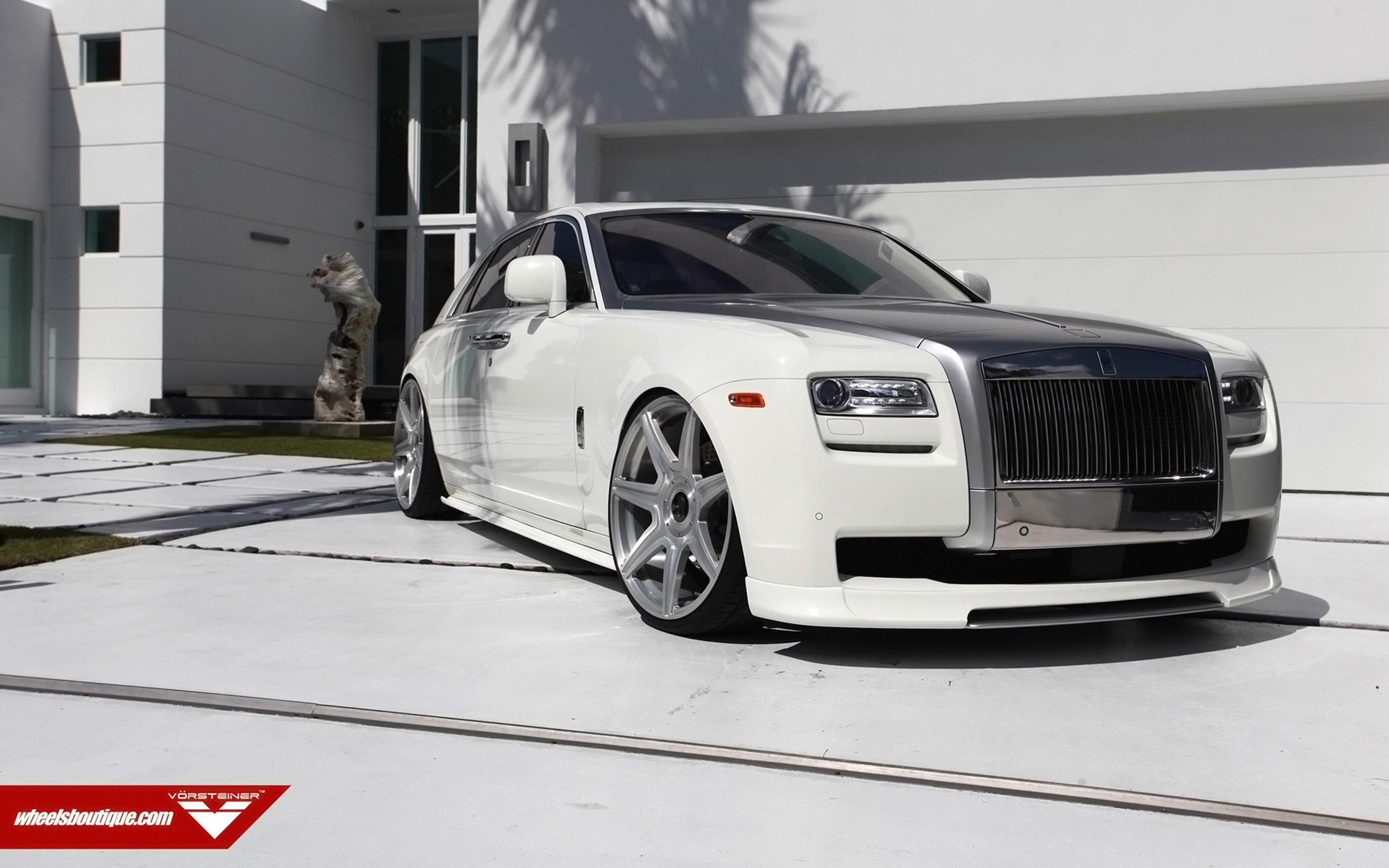 Vorsteiner Rolls Royce Ghost Supercar Car Tunning White