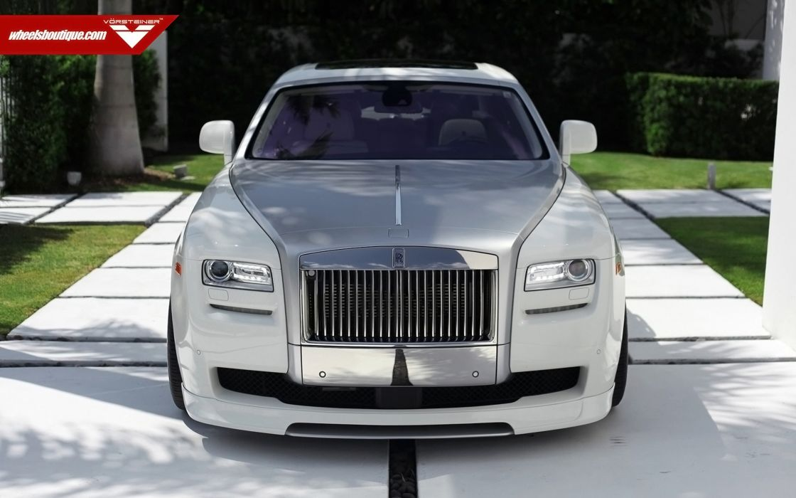 2014 Vorsteiner Rolls-Royce Ghost Supercar Car Tunning White 4000x2500 wallpaper