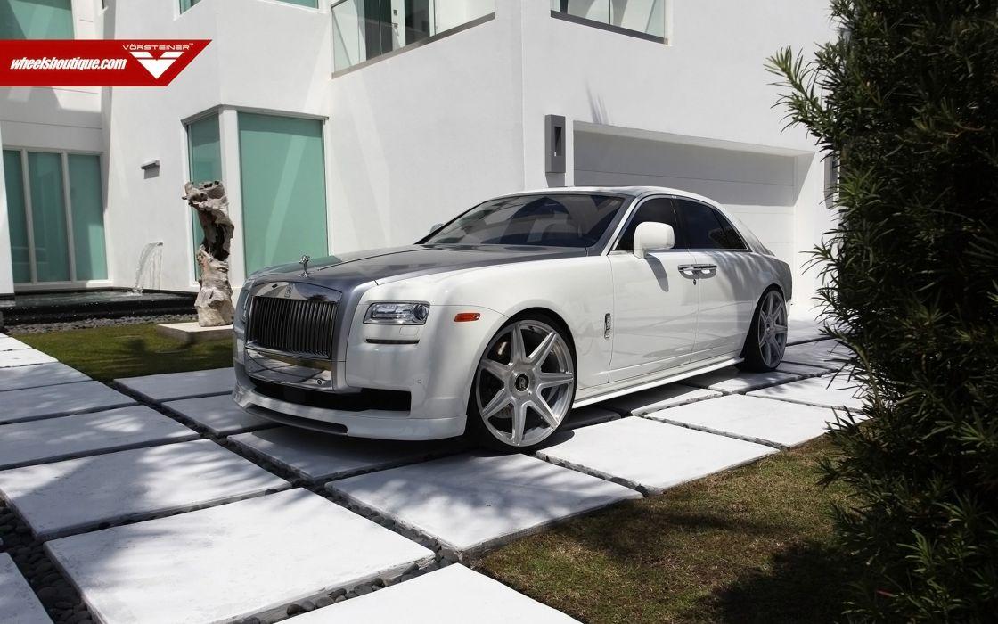 2014 Vorsteiner Rolls-Royce Ghost Supercar Car Tunning White 4000x2500 wallpaper