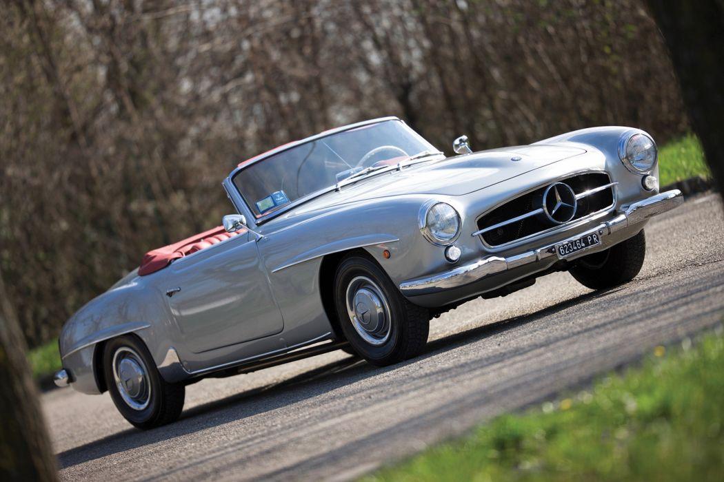 RM's Auction in Monaco classic car 1959 Mercedes-Benz 190SL Roadster 4000x2667 wallpaper