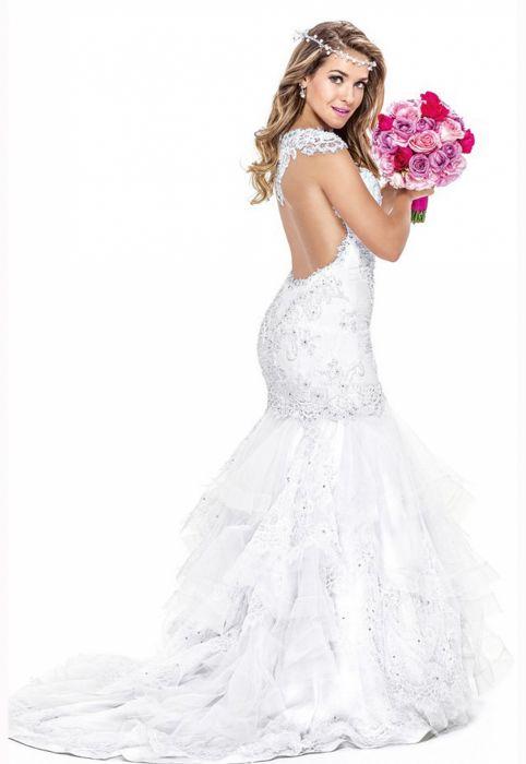 Monique Alfradique brazilian actress Brazil blonde woman babe wedding-dress 2194x3000 2 wallpaper