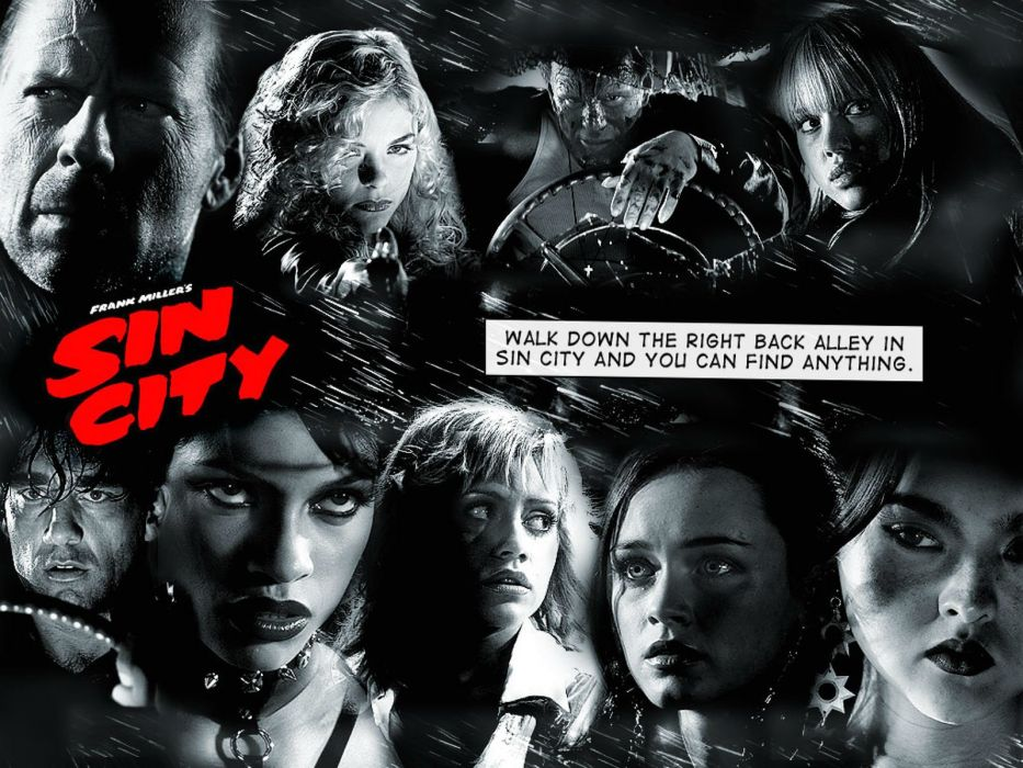 SIN CITY action crime thriller dame kill film (4) wallpaper