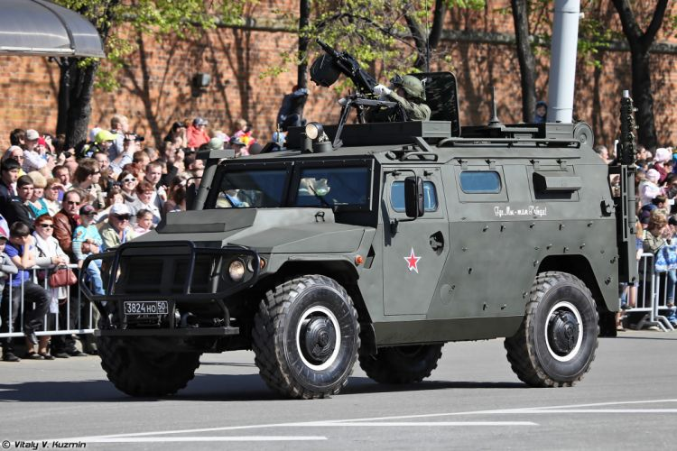 2014 Victory Day Parade-in-Nizhny-Novgorod Russia Military Russian Army Red-Star AMN 233114 Tigr-M armored vehicle 3 4000x2667 wallpaper