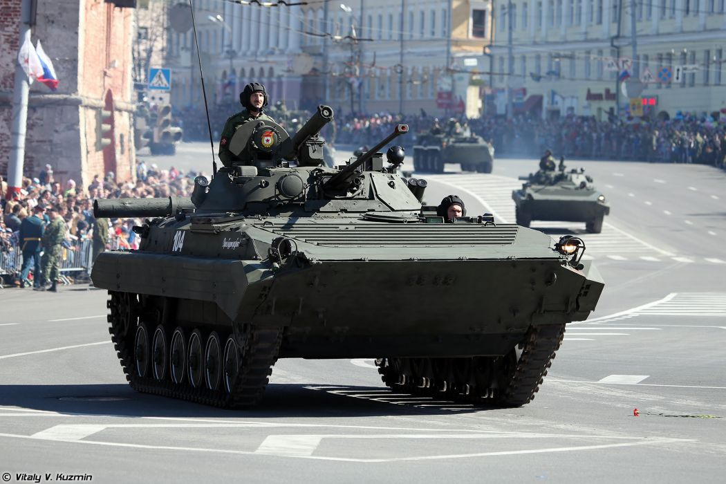 2014 Victory Day Parade-in-Nizhny-Novgorod Russia Military Russian Army Red-Star armored BMP-2 IFV 4000x2667 wallpaper