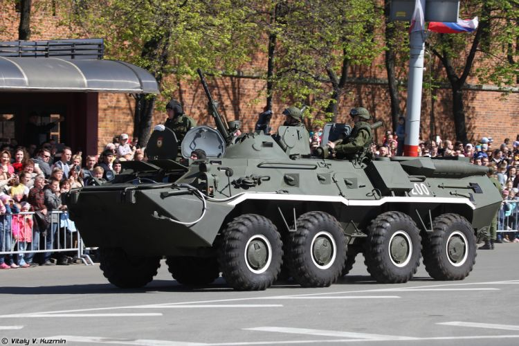 2014 Victory Day Parade-in-Nizhny-Novgorod Russia Military Russian Army Red-Star armored BTR-80 APC 2 4000x2667 wallpaper