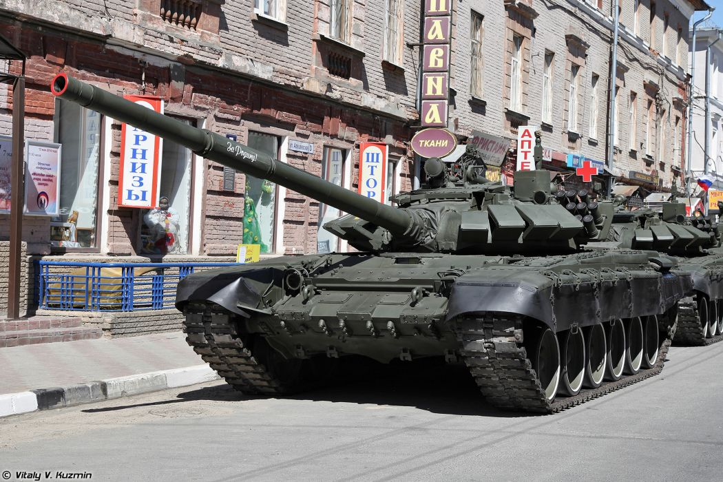 2014 Victory Day Parade-in-Nizhny-Novgorod Russia Military Russian Army Red-Star Armored Tank MBT T-72B3 tanks from 9th Separate Motor Rifle Brigade 4000x2667 wallpaper