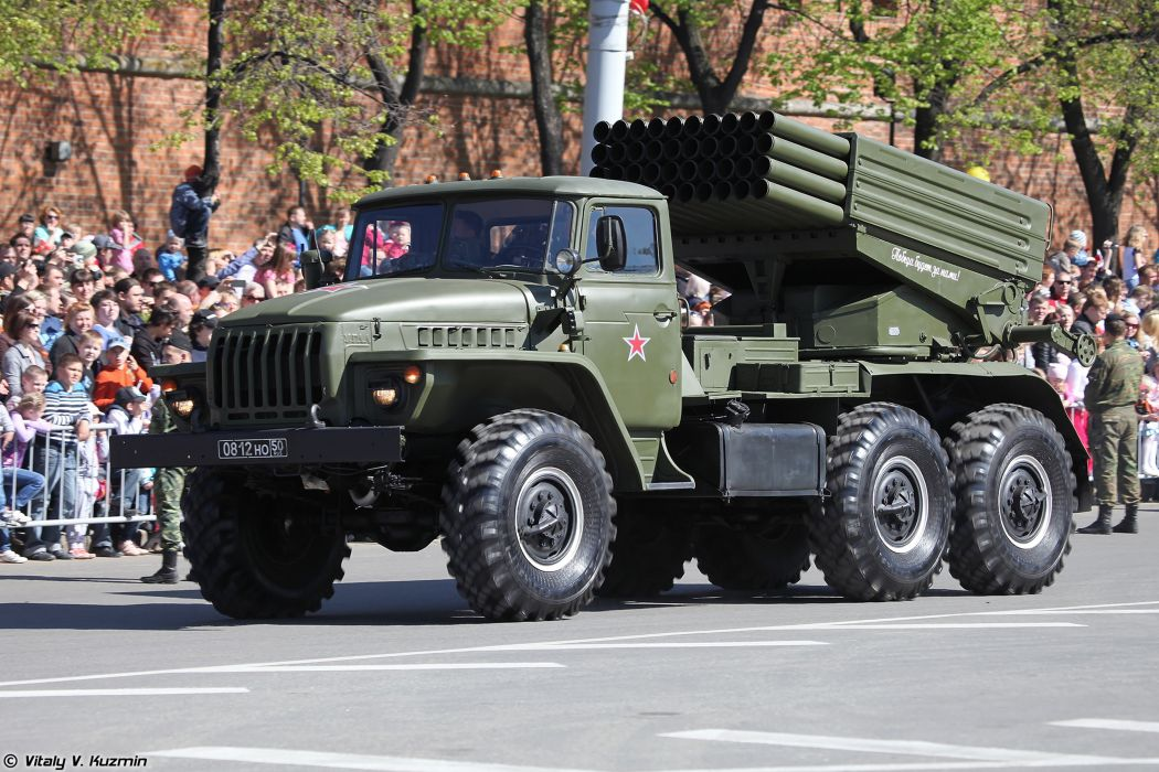 2014 Victory Day Parade-in-Nizhny-Novgorod Russia Military Russian Army Red-Star truck missile BM-21 Grad MLRS 3 4000x2667 wallpaper